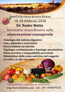 Seminario straordinario sulla alimentazione consapevole @ Hotel Villa Rosa | Rimini | Emilia-Romagna | Italia